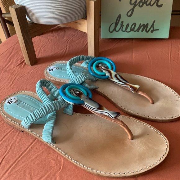 Celine Light Blue Sandal